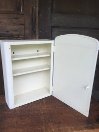 Vintage Metal Medicine Cabinet with Mirror