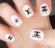 chanel nail decals logo