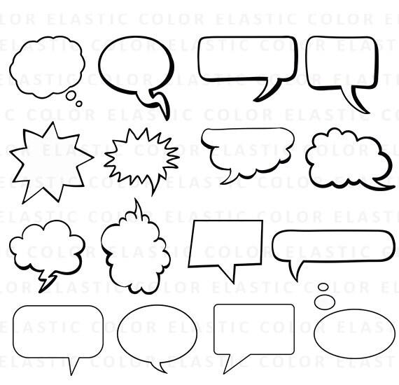 Speech Bubbles svg Speech Bubbles Clipart comic bubbles