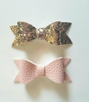 baby hair clip faux leather