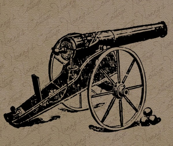 Cannon Civil War Military Clip Art Nannyscottage