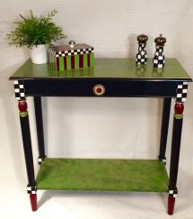 Whimsical Painted Furniture Console Table