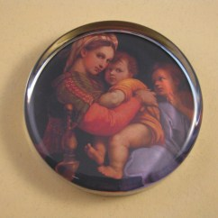 Madonna Of The Chair Gaming Rocking Raphael 39s Large Round Glass