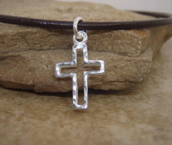 Boy' Cross Necklace Communion Filigreepheasant