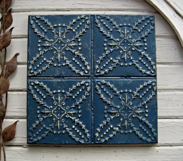 Antique Tin Ceiling Tile. Framed 2x2 Driveinservice