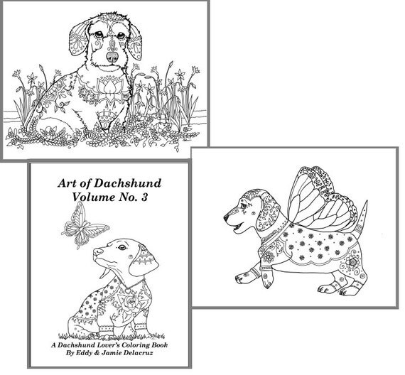 Dachshund Coloring Coloring Book Order Coloring Pages