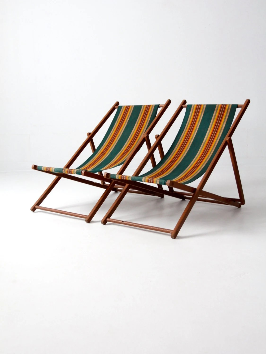 folding beach chairs canada bedroom chair on casters vintage deck stripe by 86home
