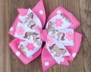 basic hair bows print