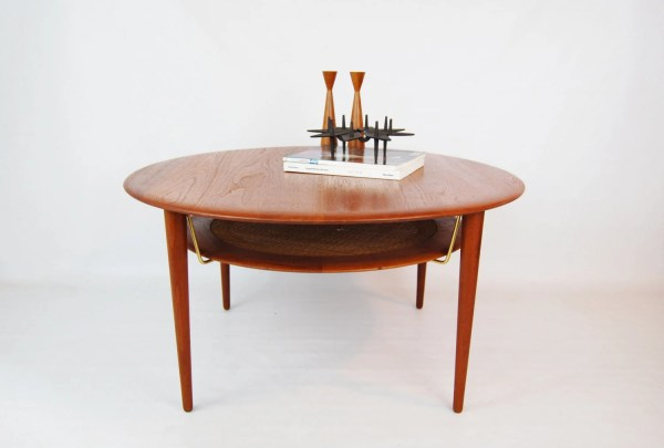 Danish Modern Teak Coffee Table With Magazine