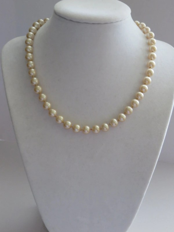 Vintage Monet Ivory Pearl Necklace