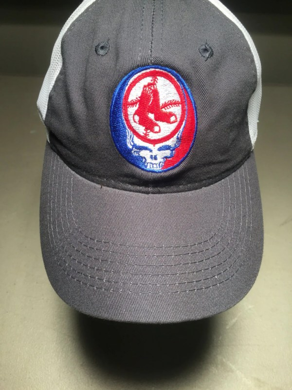 Grateful Dead Steal Face Red Sox Embroidered Trucker Hat