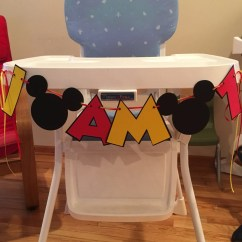 Mickey Mouse High Chair Decorations Fabric For Outdoor Patio Chairs I Am 1 Banner 2