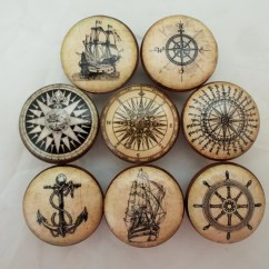 Nautical Kitchen Hardware Healthy Dog Food Set Of 8 Old World Cabinet Knobs From