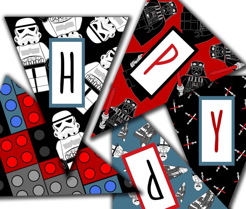 Lego Star Wars Banner Printable Star Wars Birthday Banner