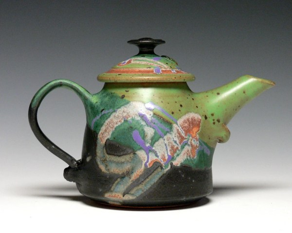 Small Pottery Teapot Stoneware Ceramic Hand