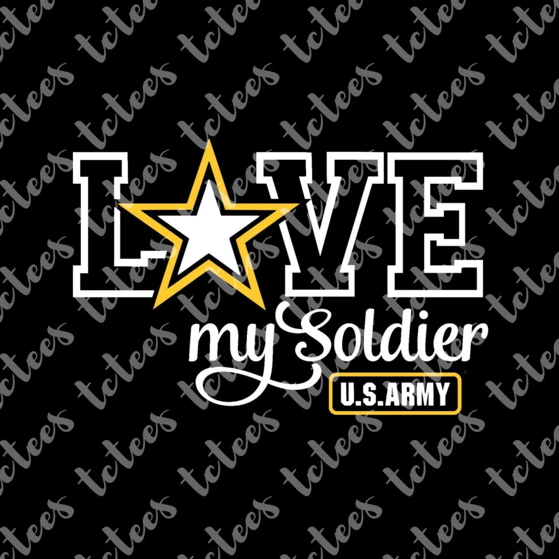 Download Love My Soldier - United States Army - Mixed Media - Army ...
