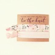 hair tie bridal shower favor rose