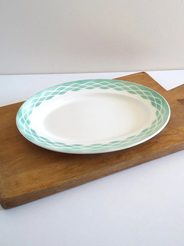 """Kidney Shaped Glass Top Coffee Table French Digoin Sarreguemines Plate """"Lola"""" – Haute Juice"""