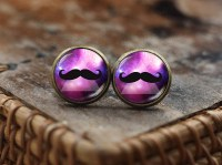 Hipster Mustache stud earrings Hipster Jewelry mustache