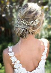 boho gold halo hair vine flower