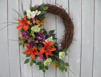 Tropical Wreath Front Door Wreath Designer by KathysWreathShop