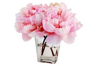 Pink Peonies in Tapered Vase Faux
