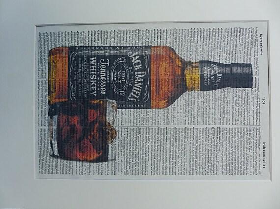 Jack Daniels Print No.123 wall decor whiskey poster alcohol