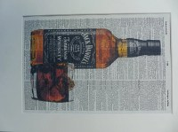 Jack Daniels Print No.123 wall decor whiskey poster alcohol