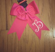 monogrammed hair bows little