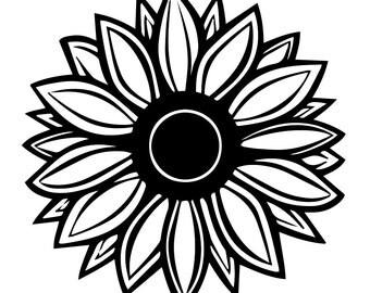 sunflower silhouette dk