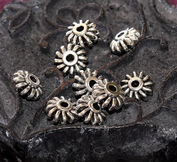 Metal Pinwheel Beadsmetal Beadspinwheel Spacersmetal