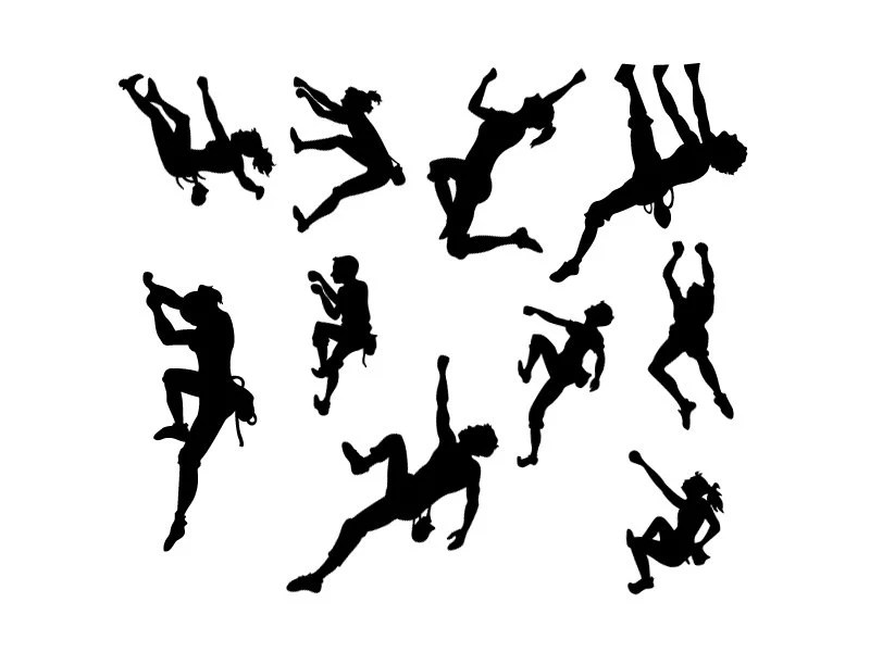 10 Pack Rock Climber Stick Figure Family Vinyl Bumper