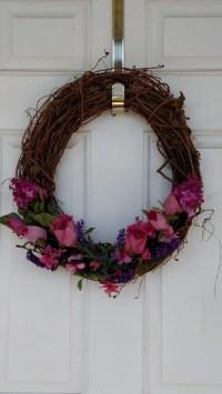 Spring Wreath-Front Door Decor-Rustic Wreath-Spring Home