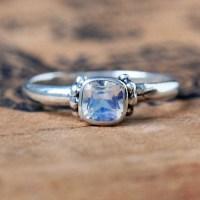Moonstone promise ring rainbow moonstone ring sterling