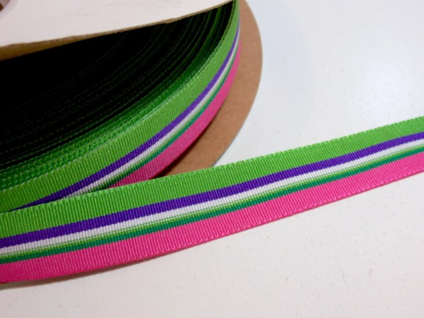 Striped Ribbon Pink Grosgrain 7 8 Wide X