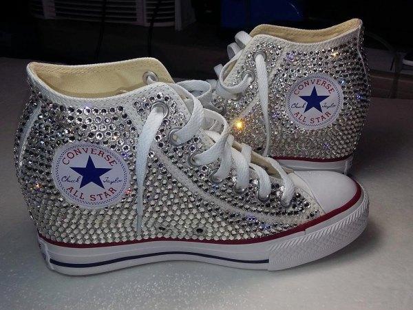 Custom Chuck Taylor Converse Wedge Shoes