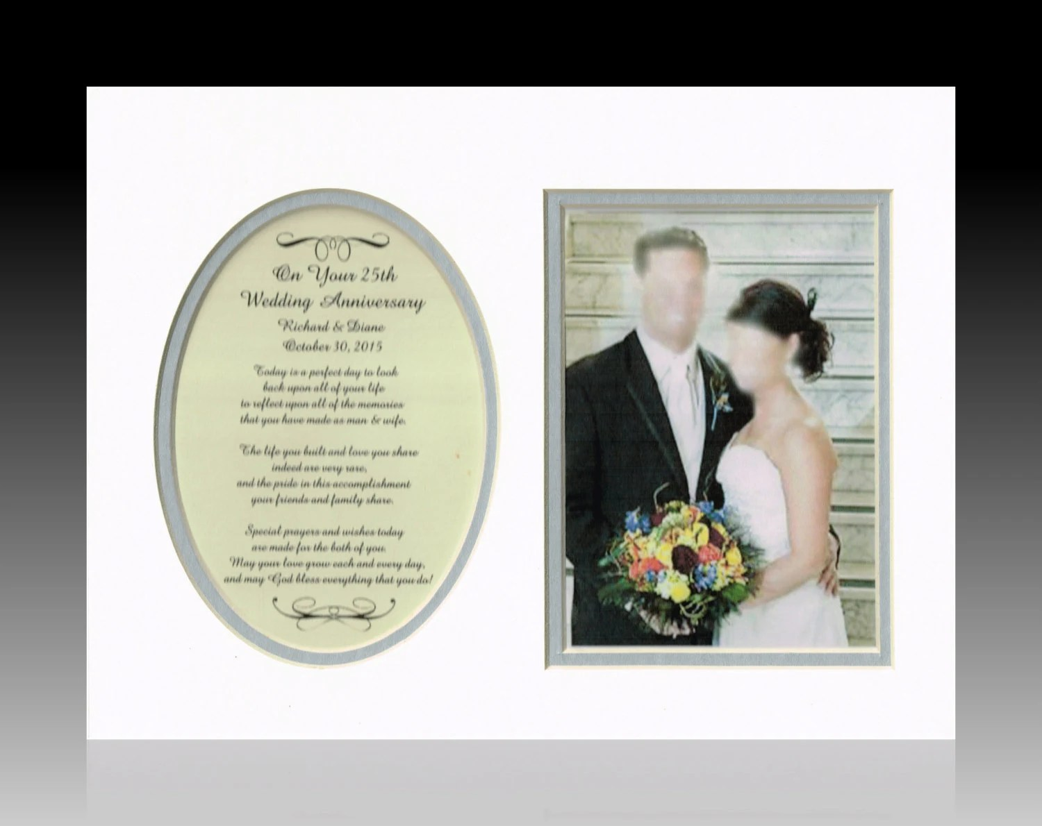 25th Anniversary Personalized Wedding Gifts Anniversary Frame