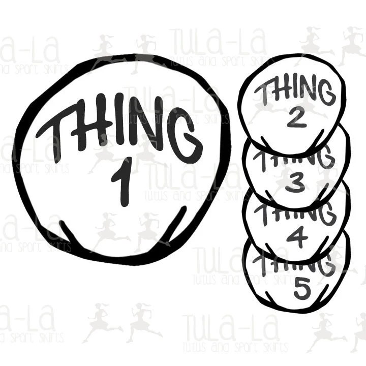 Thing 1 Iron-on Transfer Numbers 1-12 available