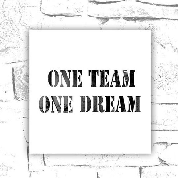 Items similar to one team one dream, motivational
