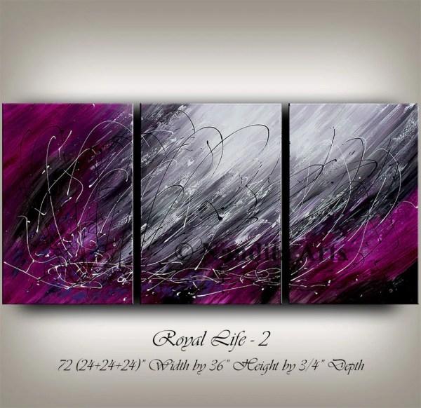 Purple Abstract Painting Original Modern Contemporaryartdaily