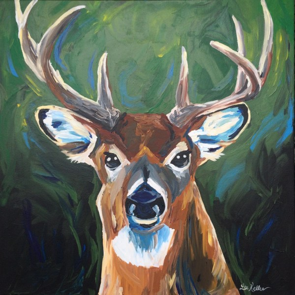 Whitetail Deer Canvas Painting