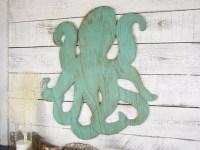 Octopus Art Octopus Decor Beach Decor Beach House Wooden