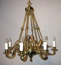 Vintage Brass Mermaid Nautical Chandelier Ceiling by ...