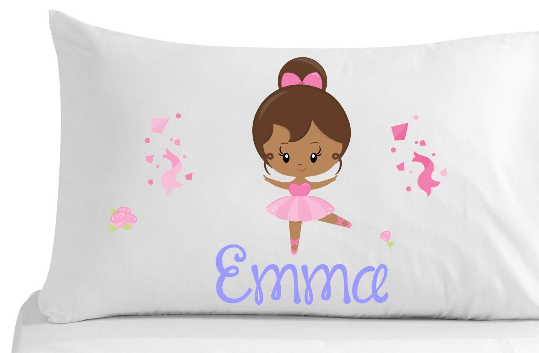 Personalized pillow case cute ballerina bedroom decor