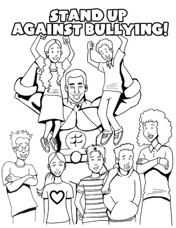 Items similar to Anti-Bullying Coloring Page on Etsy