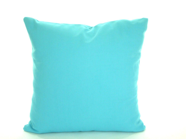 Solid Aqua Blue Pillow Cover Decorative Throw Pillow