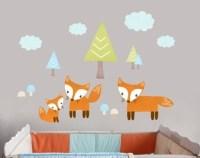 Fox wall decal | Etsy