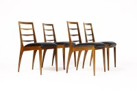 Danish Modern / Mid Century Ladder Back Dining Chairs Teak