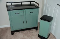 Mid Century Medical Cabinet and Matching Trash Can by ...