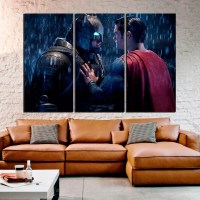 Batman vs Superman Extra Large Wall Art Large Canvas
